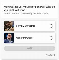 mayweather vs mcgregor poll in google search google polls