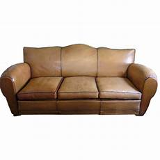 deco leather sofa for sale at 1stdibs