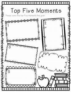 end of the year memory book free activities by