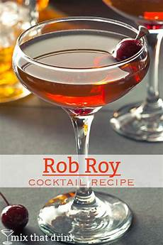 rob roy drink recipe mix that drink