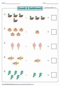 subtraction worksheets in math 10119 kindergarten and grade 1 subtraction worksheets picture subtraction