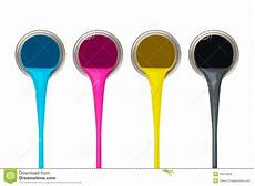 cmyk paint stock image image of container drop isolated 16276659
