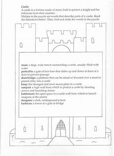 worksheets ks2 parts 18802 parts of a castle middle ages history book templates homeschool history