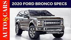 2020 ford bronco specs news and review