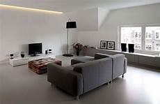 pavimenti soggiorno pavimenti in resina satinata grigio casa minimalista nel
