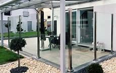 Terrassen Windschutz Glas - closed panther glas