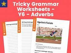 pronouns worksheets y6 tricky grammar worksheets y6 adverbs by teach primary teaching resources