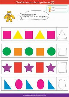 color patterns worksheets 53 187 patterns3 free educational coloring pages