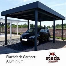 carport aluminium flachdach carport flachdach aluminium einzel doppel steda ebay
