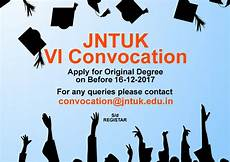 jntuk 6th convocation apply od online last date 16th dec 2017