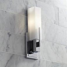 possini euro midtown 15 quot high white glass chrome wall sconce t9724 ls plus