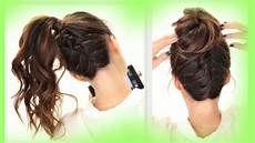 2 cute braids back to school hairstyles braided bun hairstyle youtube