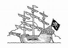 ausmalbilder malvorlagen piratenschiff kostenlos zum