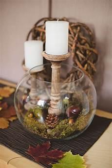 Herbstdeko Glas Mit Kastanien Suche Deko Herbst