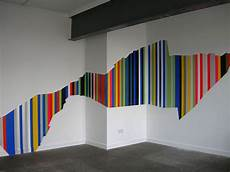 Wandgestaltung Streifen Ideen - ideen f 220 r farbige streifen an der wand decoraiton