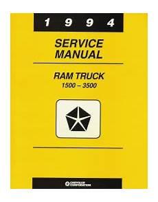 small engine repair training 1994 dodge ram wagon b250 user handbook 1994 dodge ram 1500 3500 rear wheel drive truck service manual