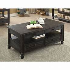 Black Coffee Table Walmart furniture of america wahlberg rustic louvered antique