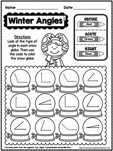 winter worksheets for 4th graders 20177 winter no prep math 4th grade 4th grade math fourth grade math math lessons
