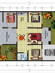 Contoh Denah Rumah Minimalis 3 Kamar 1 Lantai House Home