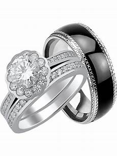 his hers cz wedding ring unique matching wedding bands