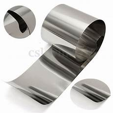 stainless steel fine plate thin sheet rust resistance foil 0 05mm 100mm 1m ebay