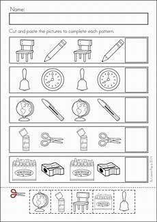 cut and paste patterns worksheets for kindergarten 309 310 best images about razonamiento l 243 gico seriaci 243 n on cut and paste abs and