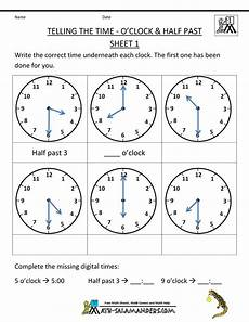 half past time worksheets for grade 1 3568 telling time worksheets o clock and half past kindergarten gr 1 math telling