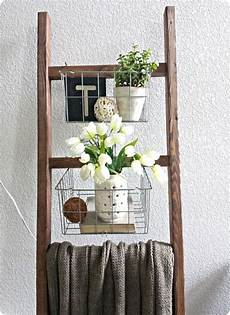Bathroom Scale Storage Ideas by Blanket Ladder With Wire Baskets Diy Furniture And Wood