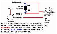 mopar voltage regulator upgrade the early mopar 60 s and 70 s wiring and how it can be upgraded bob s garage library