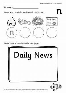 letter n phonics activities and printable teaching