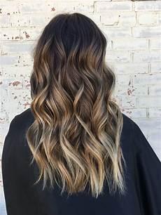 brown hair brown balayage highlights waves