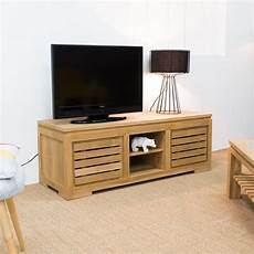Meuble Tv Teck Meuble Tv Bois Naturel Rectangle Zen