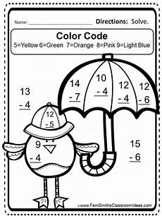 subtraction worksheets colouring 10034 free mixed subtraction task cards and printable math sheets ferns and daycares