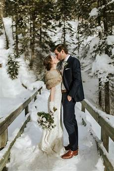 gorgeous winter wedding at emerald lake lodge rocky moutaninsreal weddings