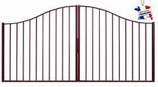 portail fer 3m portail chapeau de gendarme largeur 3m cloture jardin