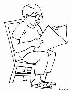 newspaper colouring pages 17708 reading newspaper coloring page pitara network