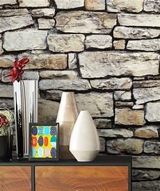 stein tapete wohnzimmer newroom papiertapete steintapete grau steintapete