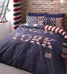 housse de couette garcon 220x240 new york bedding duvet cover usa stripes white