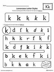 letter k recognition worksheets 24411 lowercase letter k styles worksheet myteachingstation