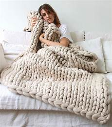 Couverture Grosse Couverture Grosse Maille I Tricot