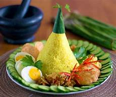 Nasi Kuning Turmeric Rice Yellow Rice For Nasi Tumpeng
