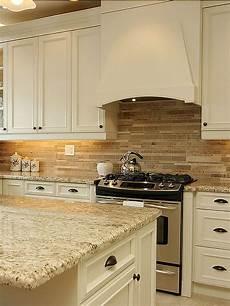 Tile Backsplash Kitchen Travertine Subway Mix Backsplash Tile For Kitchen