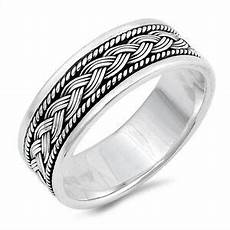 bali rope design weave knot wedding ring new 925 sterling