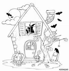 malvorlage hexenhaus kostenlos kinder ausmalbilder