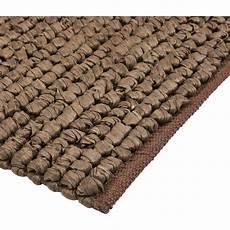 tapis de bain en coton 80 x 50 cm brun ch 226 taignier jan