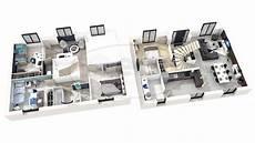 exemple de plan de maison en 3d gratuit 3d studio 5 chambres modern house