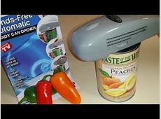 AS SEEN ON TV Handy Can Opener   Put To The Test!   YouTube