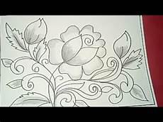 Cara Menggambar Batik Motif Bunga 44