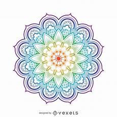 Mandala Blumen - bright mandala flower illustration vector