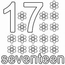 kostenlose malvorlage englisch lernen seventeen zum ausmalen